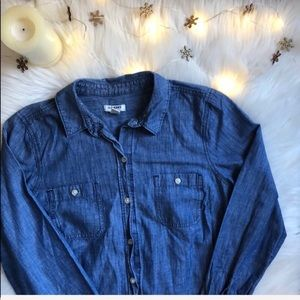 Old Navy Chambray Button Up Shirt